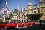 A set of Ferraris parked outside the Monte Carlo casino