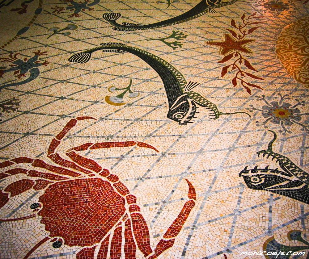Monaco Oceanographic Museum Mosaic Floor